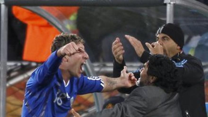 Palermo celebra el segundo gol