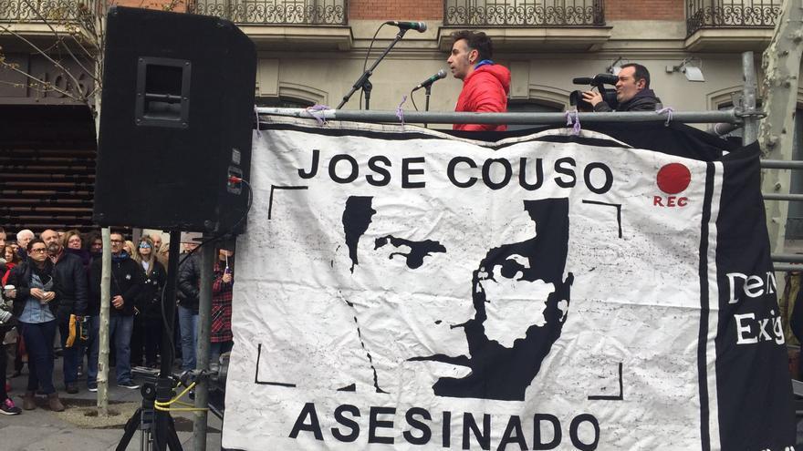 David Couso, en el homenaje por el 13º aniversario del asesinato de su hermano, José Couso