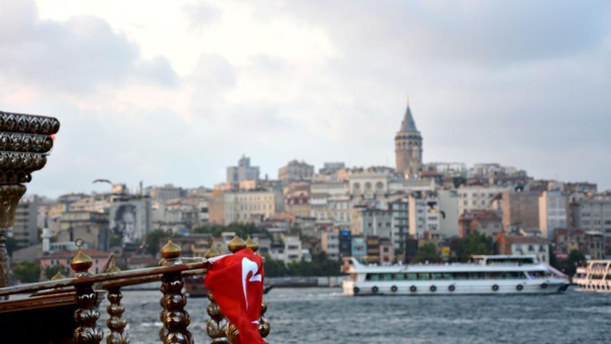 Vista de la orilla europea y la Torre Gálata, Estambul / Silvia Nortes
