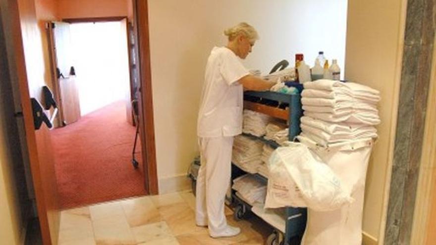 Camarera de piso, en una imagen de archivo