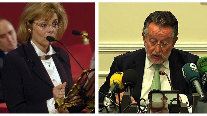 Los exconcejales populares en el Ayuntamiento de Valencia María José Alcón y Alfonso Grau