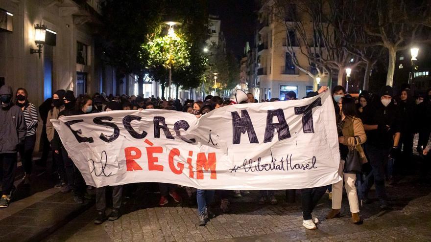 Siete detenidos en Terrassa en una manifestación pro Hasel con incidentes