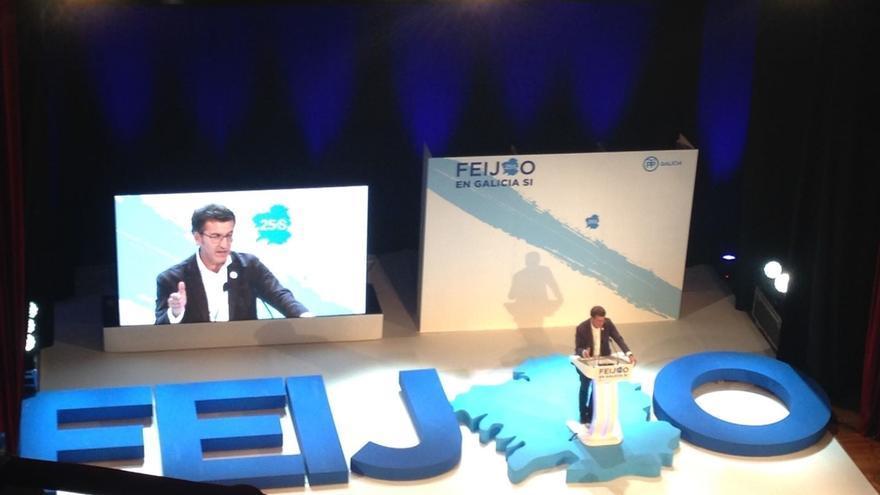 """Feijóo augura que Galicia """"va a dar un mensaje a toda España"""" y clama por """"cuatro años más de estabilidad"""""""