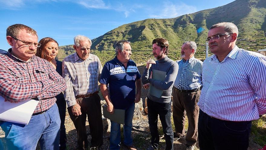Visita a los barrancos de Güímar del presidente del Cabildo de Tenerife
