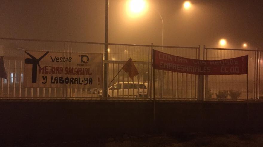 Huelga en Vestas Daimiel / Foto: CCOO