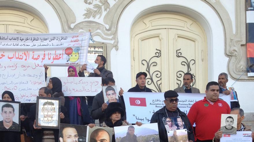 Familiares de jóvenes desaparecidos en el Mediterráneo. Túnez / Elena González