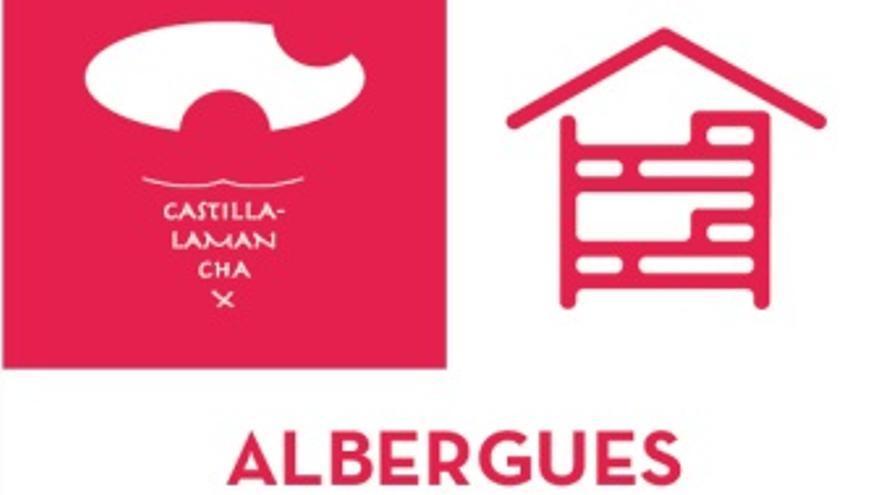 Modelo de placa oficial para los albergues turísticos de Castilla-La Mancha