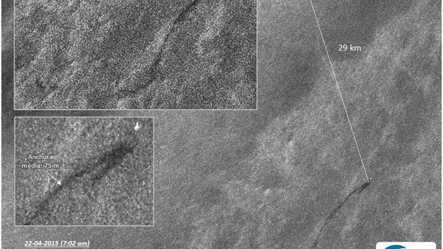 Imagen de satélite proporcionada por el Instituto de Oceanografía y Cambio Global de la Universidad de Las Palmas de Gran Canaria