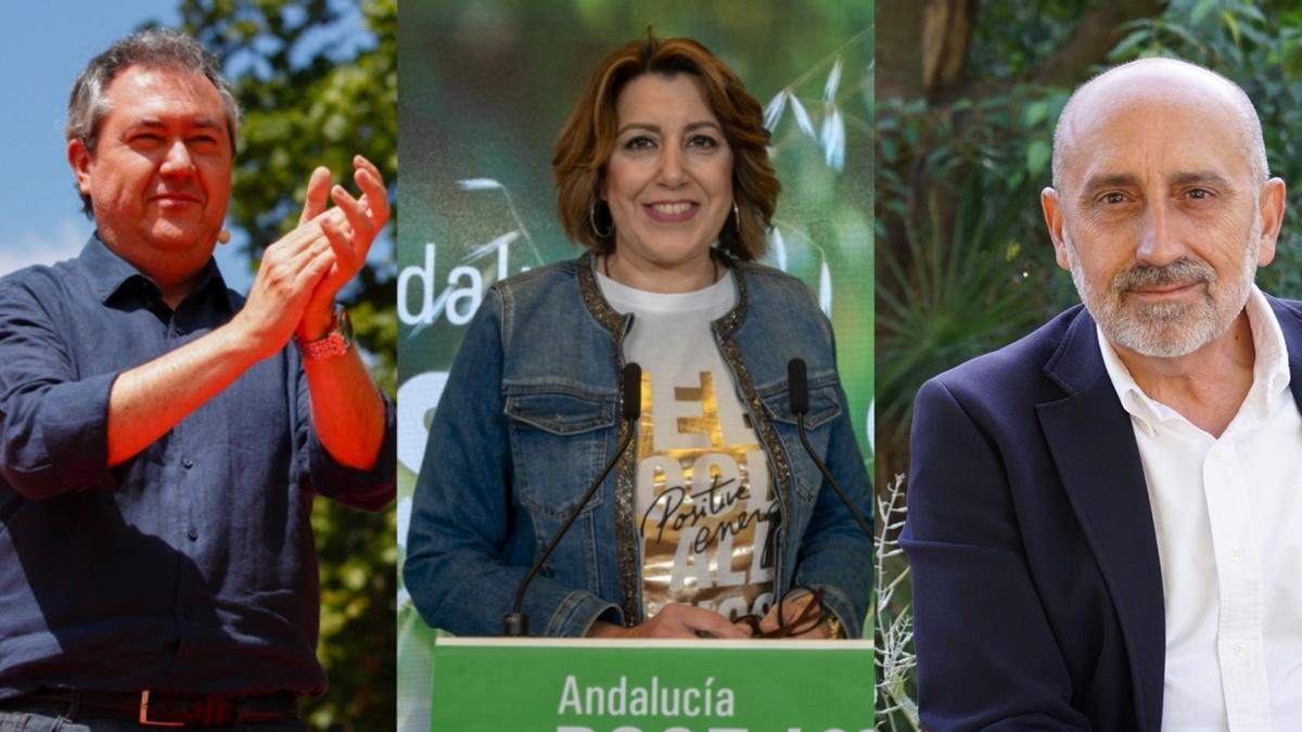 Juan Espadas, Susana Díaz y Luis Ángel Hierro, candidatos a las primarias del PSOE-A.