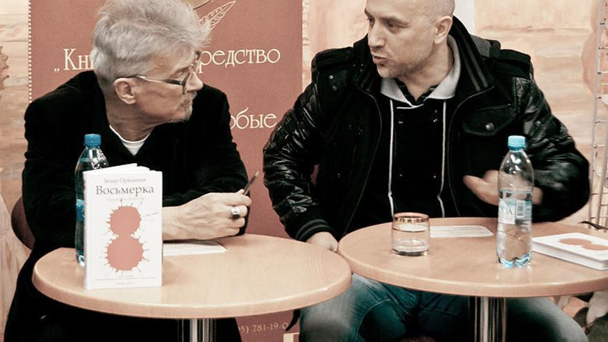 Eduard Limónov y Zajar Prilepin en 2012.