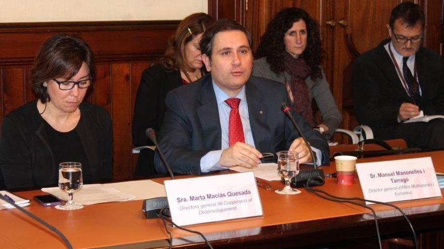 Manonelles, en una intervención en el Parlament