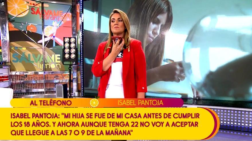 """Isabel Pantoja entra por sorpresa en Sálvame: """"Estoy más tranquila con mi hija en GH VIP que por las calles"""""""