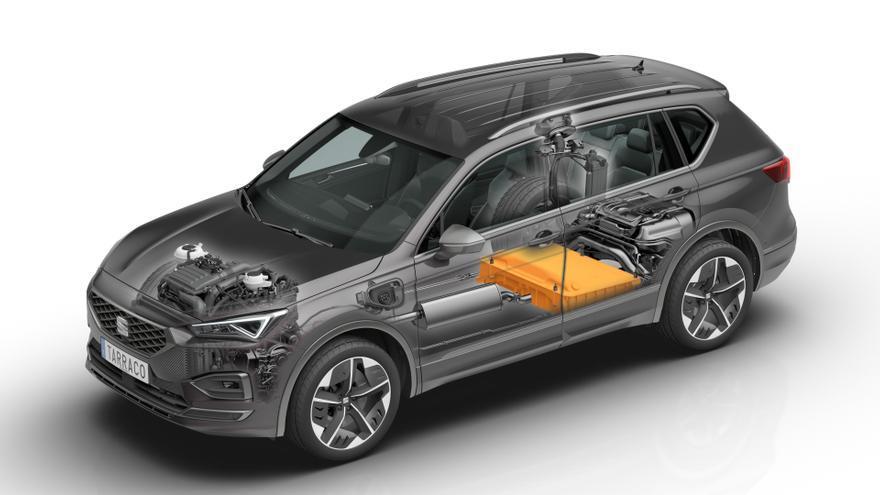 El Seat Tarraco tiene una batería de iones de litio de 13 kWh de capacidad.