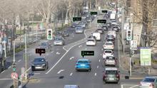 Audi introduce en Düsseldorf su servicio de información de semáforos.