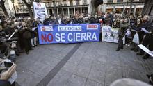 Manifestación en Toledo de trabajadores de Elcogas en mayo de 2015