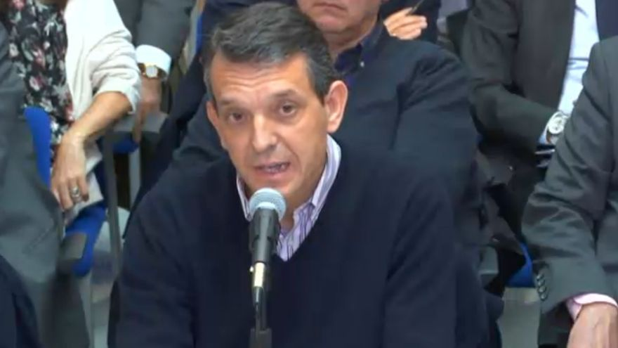 El exdirector de la Ciudad de las Artes y las Ciencias de Valencia, Jorge Vela, en el juicio del caso Nóos