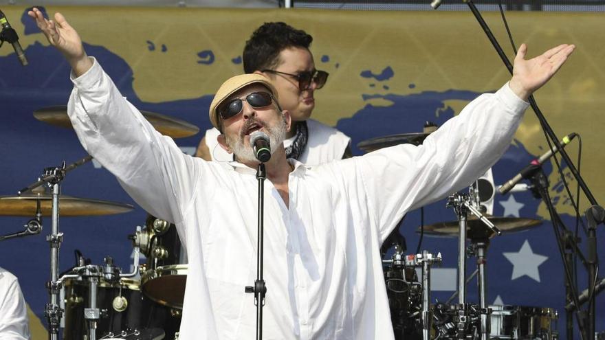 Miguel Bosé en un concierto en Colombia en 2019. GTRES.