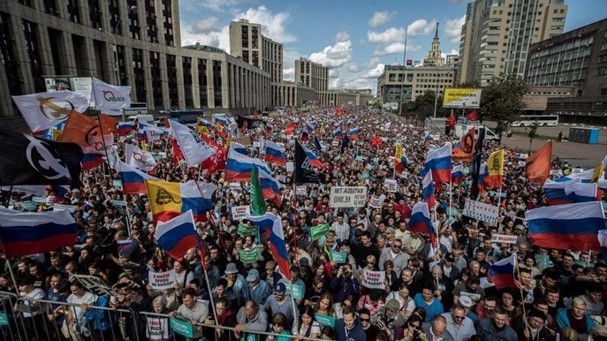 Oposición rusa amenaza con protestas indefinidas si vetan a sus candidatos