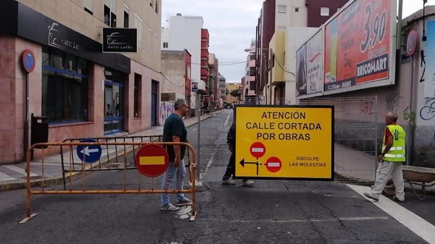Calle Castillejos en el barrio de Guanarteme (Las Palmas de Gran Canaria).