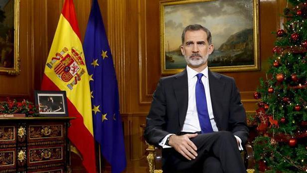 El Rey Felipe VI pronuncia su tradicional discurso de Nochebuena, desde el Palacio de La Zarzuela.