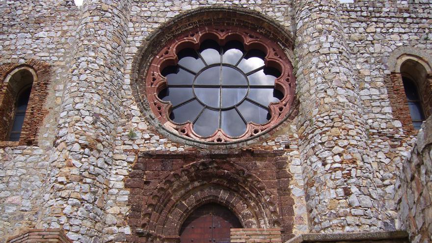 Rosetón de la Iglesia de Calatrava la Vieja, situada en el castillo del mismo nombre. Roberto