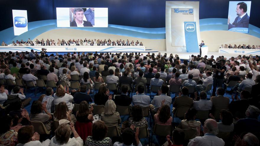 Mariano Rajoy, durante su discurso de candidato a presidencia durante el XVI Congreso Nacional del Partido Popular que se celebró en la capital valenciana