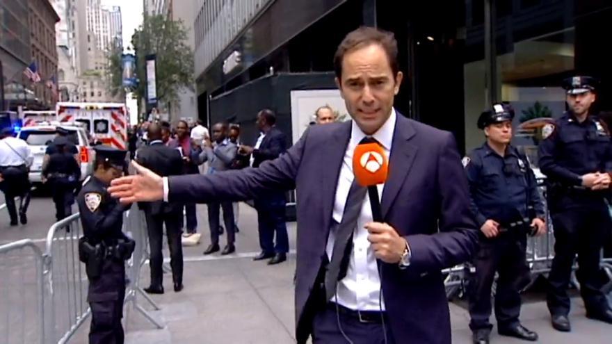 José Ángel Abad, en una de sus crónicas desde Nueva York
