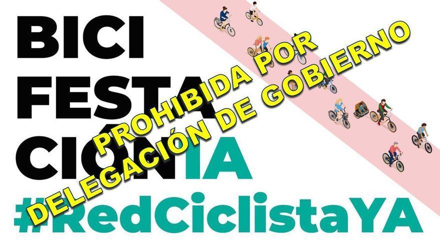 Delegación del Gobierno prohíbe la 'bicifestación' que iba a pedir más carriles bici protegidos en Madrid