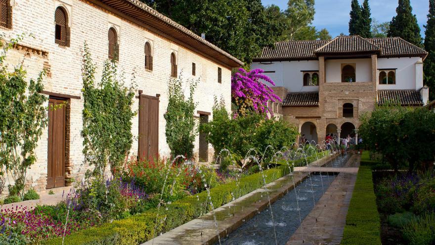 Fuente del Generalife, la residencia de verano de La Alhambra.