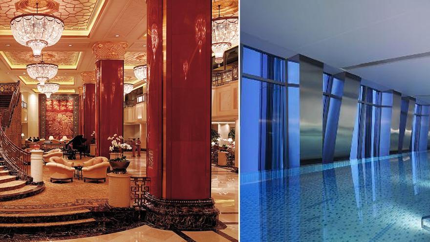 Zonas comunes del China World Hotel donde se alojó Fermín Lucas durante 6 noches