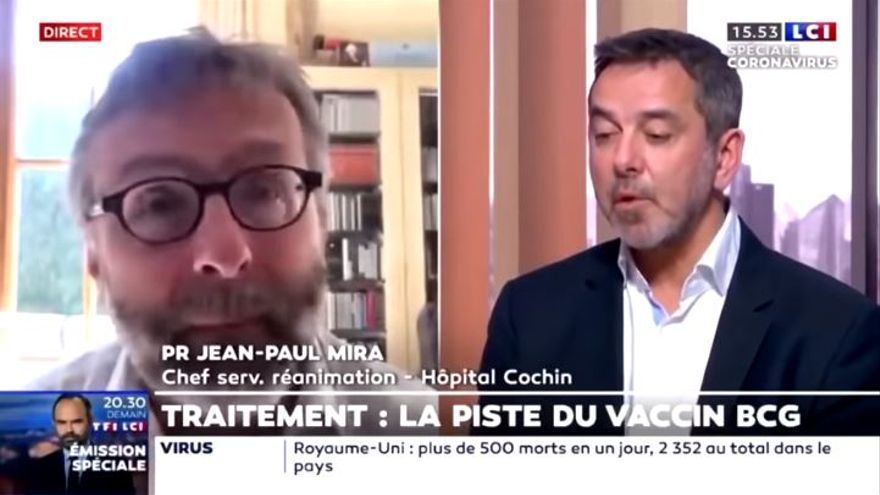 Intervención en la televisión francesa de Jean-Paul Mira y Camille Locht