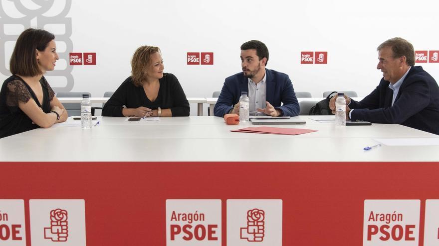 Reunión, el pasado martes, de la Comisión Negociadora del PSOE en Aragón