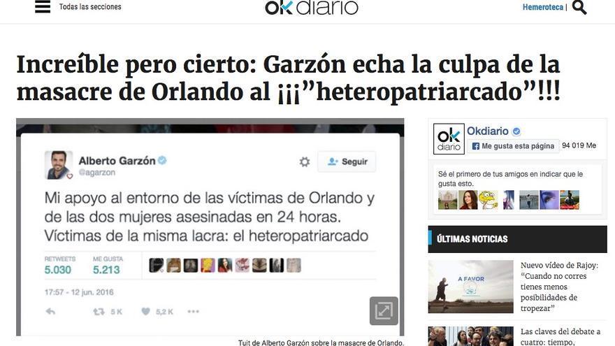 Garzón echa la culpa de la masacre de Orlando al 'heteropatriarcado'