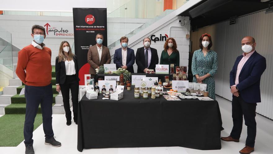 Representantes de las empresas de Bio Navarre en la presentación