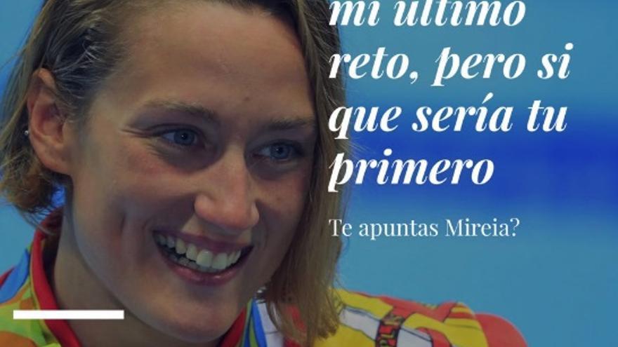 Imagen difundida por Juan Ramón Amores con el reto para la nadadora