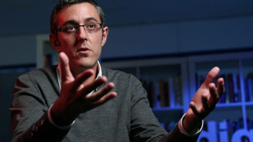 El diputado del PSOE, Eduardo Madina, durante su entrevista a eldiario.es
