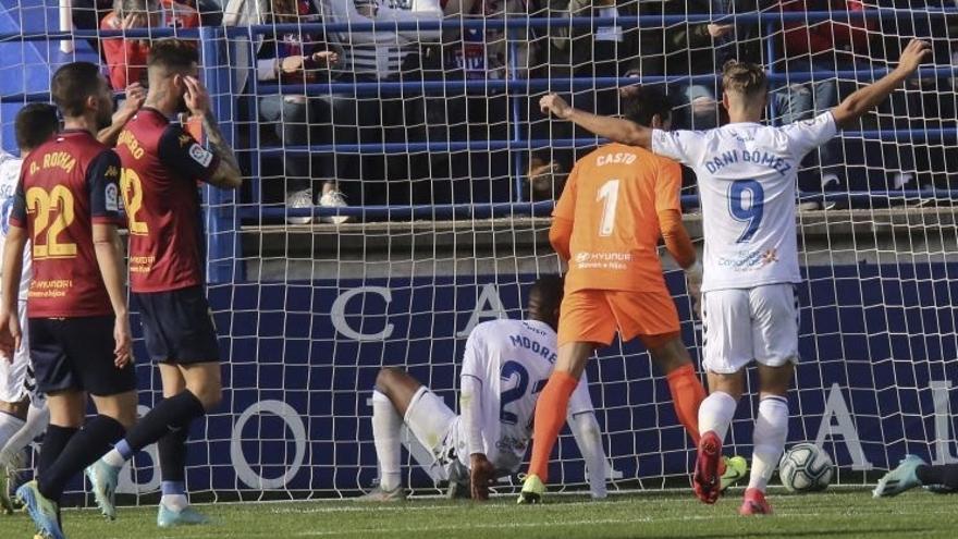 Imagen del Extremadura-Tenerife que acabó en goleada visitante.