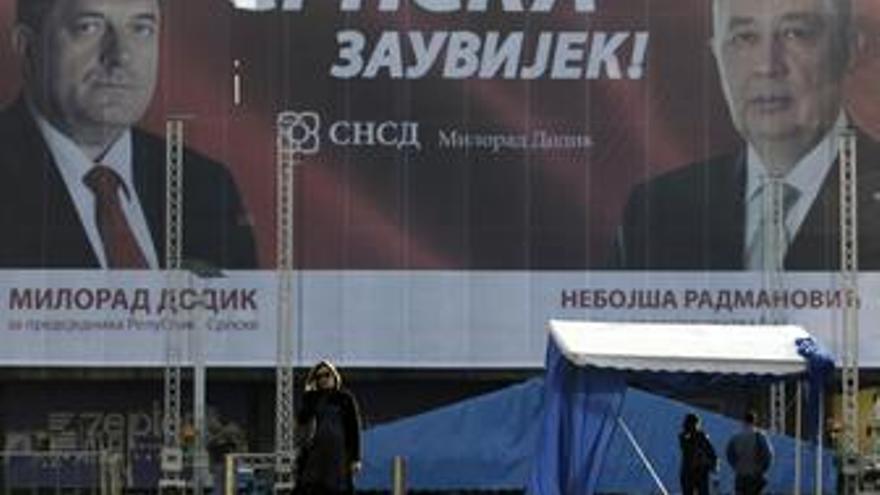 Cartel de las elecciones en Bosnia