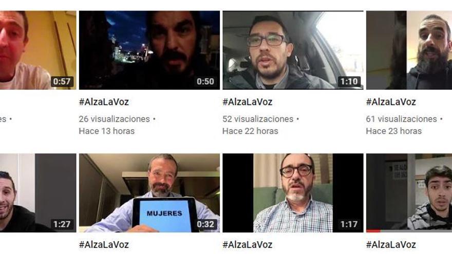 Vídeos de la campaña #AlzaLaVoz