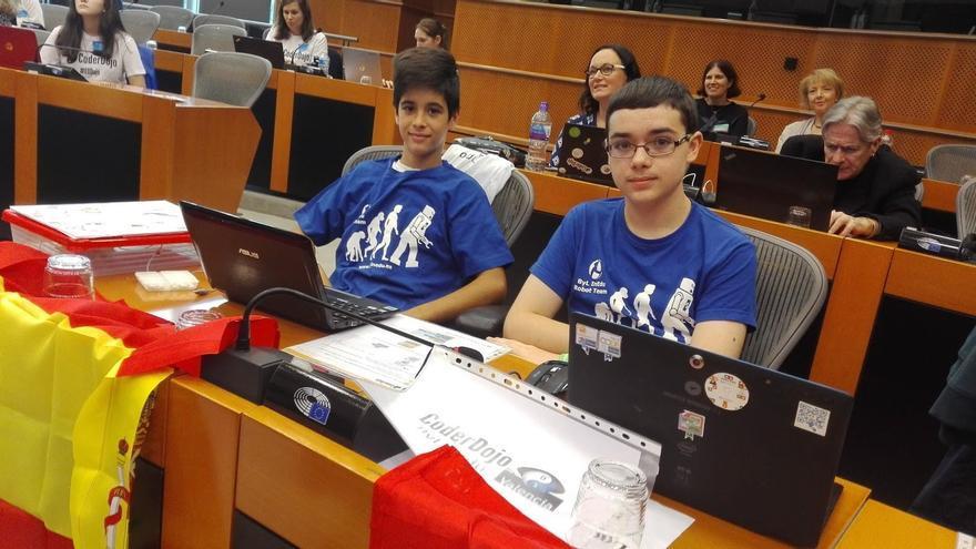 Luis y Ramón, los dos niños españoles que mostraron sus proyectos de programación