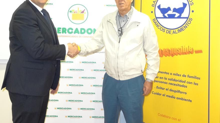 Convenio firmado entre Mercadona y el Banco de Alimentos de Las Palmas.