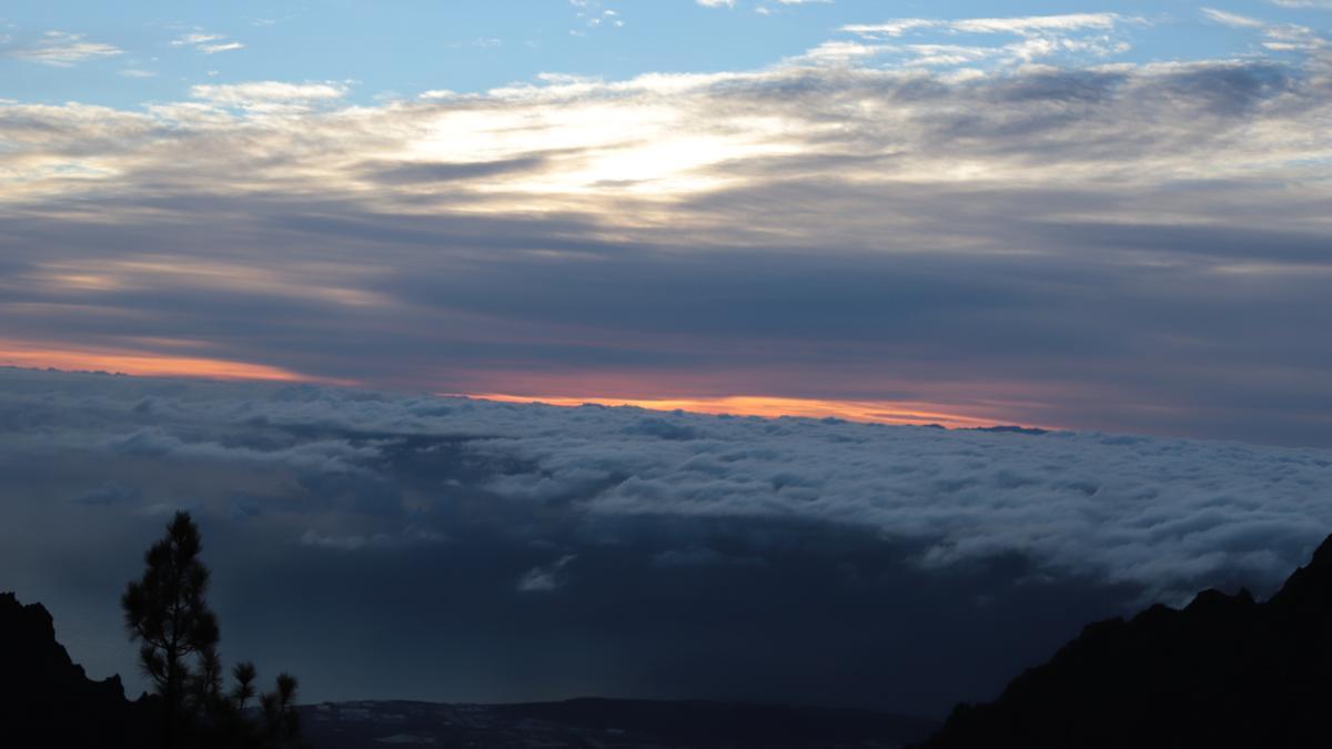 Nubes en Canarias