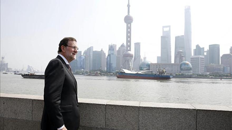 Rajoy visita el símbolo de China del siglo XXI