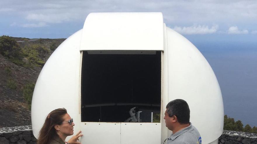 En la imagen, el el Telescopio Solar del Sur.