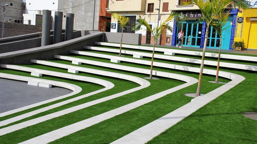 Imagen parcial de la nueva plaza, en el barrio costero de Playa San Juan