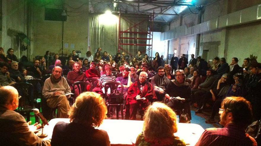 El Círculo de Podemos cultura, en asamblea / https://www.facebook.com/podemoscultura