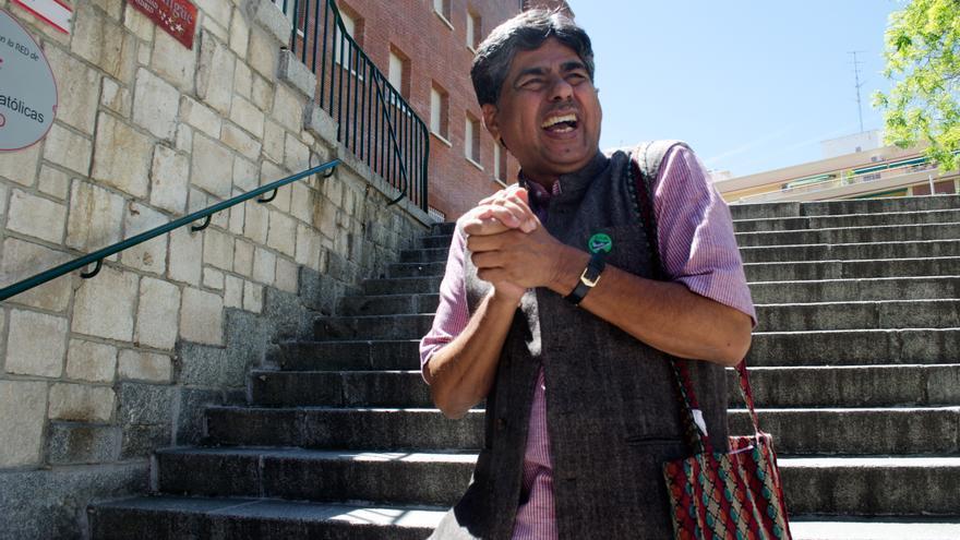 Rajabopal PV dirige la organización Ekta Parishad, nominada al Premio Nobel de la Paz 2014/Foto: Miguel Moreno