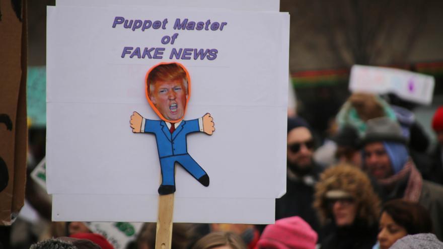 Donald Trump y su polémica victoria electoral, vinculados a las 'fake news'