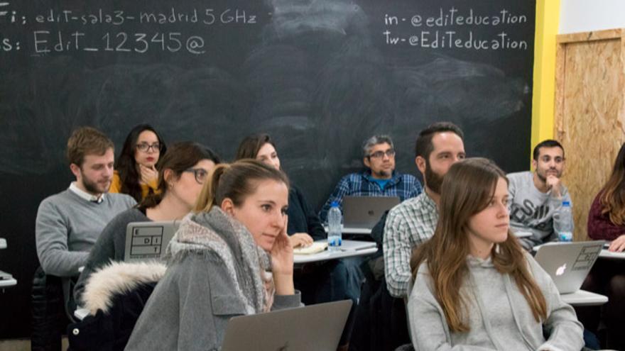 Alumnos del máster de UX y UI.