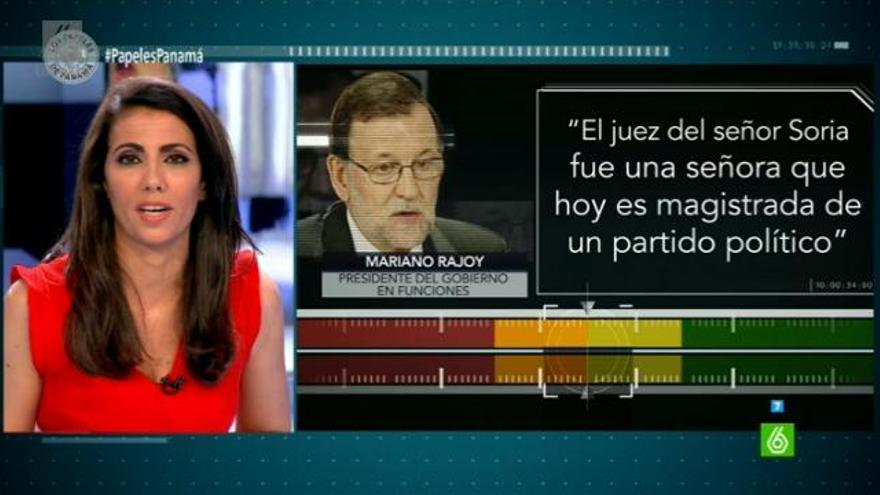 Captura de pantalla del programa de La Sexta 'El Objetivo', presentado por Ana Pastor